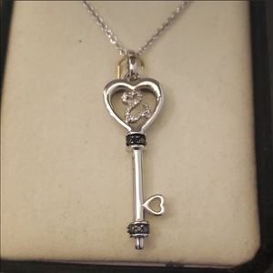 Jane Seymour Open Heart Key Necklace